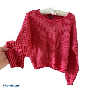 ‼️Wild Fable crop knit sweater pink size small